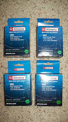 ALTRONIX 6062 Timer Relays-Lot of 4 NEW