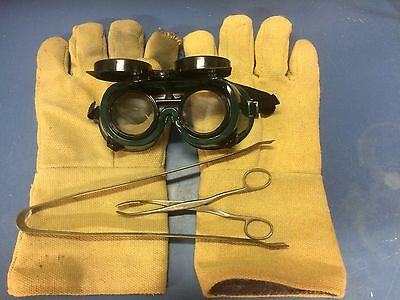 Dental Lab Casting Accessories, Gloves, Tongs And Goggles