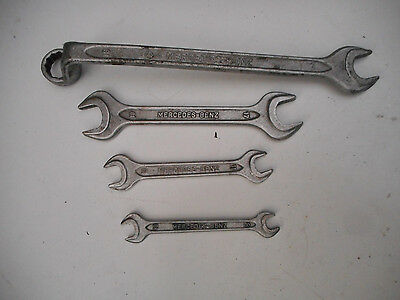 Vintage MERCEDES-BENZ Tool Kit Wrenches by Matador Tools, West Germany DIN 895
