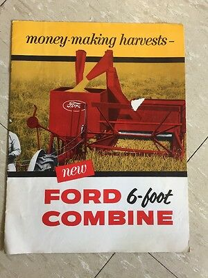 1955 Ford  Combines Color Brochure Original