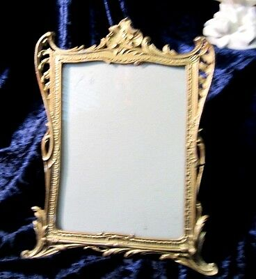 Antique English Metal Gold Painted  Frame C. 1899