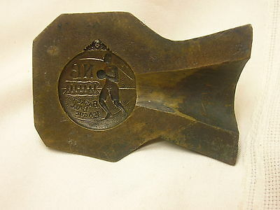 "Antique Brass Mold for Medal N. B. Basketball League Half 3 5/8"" X 2 5/8"""