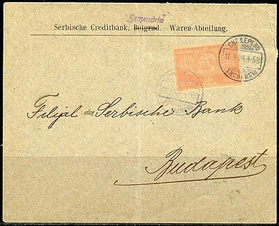 Serbia Belgrade Cover Canceled  11.09.04  Mailed To Serbia Bank Budapest Hungary