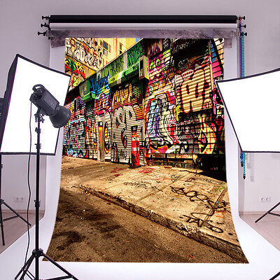 Street Graffiti Vinyl Photography Backdrop Background Studio Props 5x7FT GY91 US