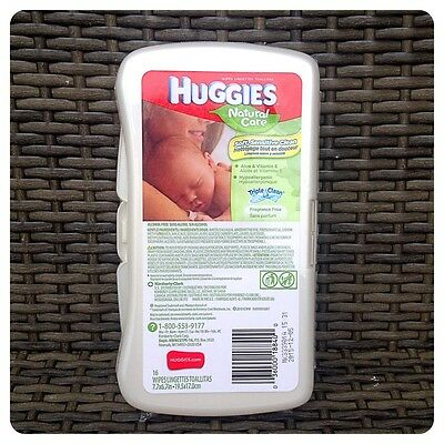 1 x HUGGIES baby wipes hard travel case. For nappy bag - Discontinued! White
