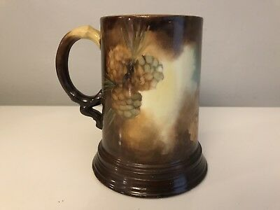Antique J. P. L. Jean Pouyat Limoges France Mug Stein Tankard Pinecone Signed