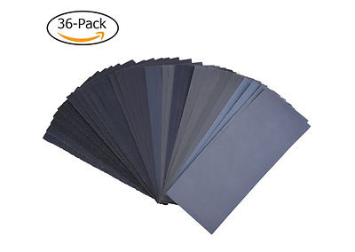 Wet Or Dry Sandpaper Assortment Auto Detail Car Fine Grit Variety Pack Low High