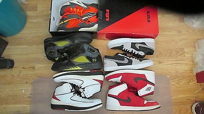 Jordan and Lebron lot of 5 pairs of shoes