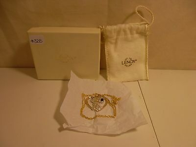 #328 Lenox Peanuts- Snoopy And Woodstock Gold Neckless
