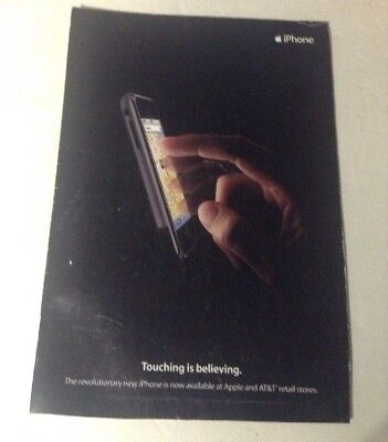 Vintage ORIGINAL APPLE iPHONE Print Ad Art 1ST GENERATION