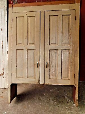 Antique Farmhouse Cupboard Top Painted 2 Door Shabby Chic