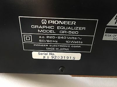 Pioneer 7 Band Graphic Equalizer GR-560