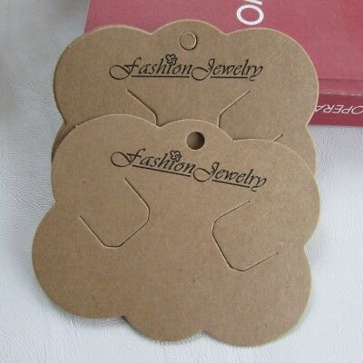 200PCS Pre Cut Headband Hair Bow card Hair Clip Bobble Holders Packaging Display