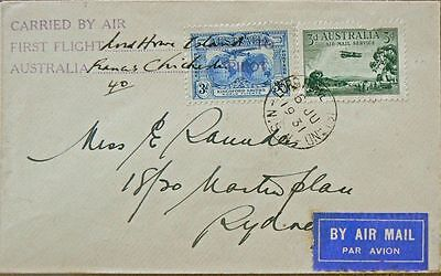 Australian Flight Cover.1931 Lord Howe Ist Flight.endorsed Chichester.aamc184A