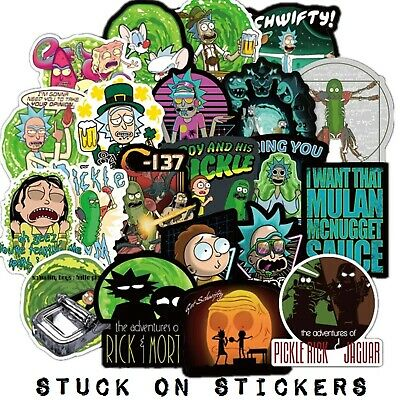 Rick and Morty Stickers 10 pcs Mixed Stickerbomb Cartoon Decal Phone Skateboard