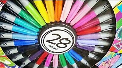 sharpie 28 pack limited edition permanent marker pens