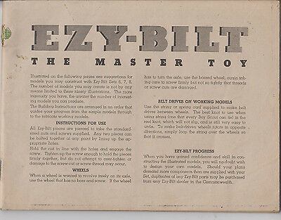 EZY-BILT Instruction Book for Sets 6, 7 and 8