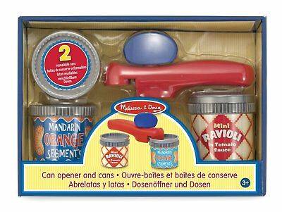 Melissa & Doug Can Opener and 2 Resealable Cans - Play Kitchen Accessories