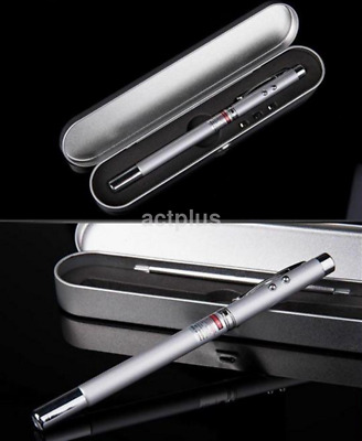 New 4 in 1 Laser Pointer Pen PowerPoint Telescopic Teaching Tool Ball Pen CA