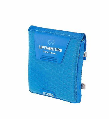 Lifeventure Soft Fibre Advance Trek Towel - Blue, Pocket