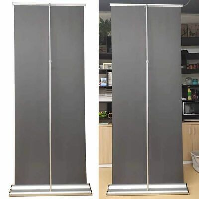 2 pcs,33.5x80,Repeatable Using Deluxe Retractable Roll Up Banner Aluminum Stand