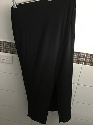 Rockmans Black Maxi Wrap Skirt Size Xl New With Tags
