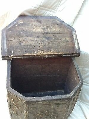 brass coal box in good condition original wood lining small dents in brass usual