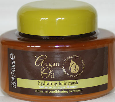 3 x HYDRATING HAIR MASK 220ml WITH MOROCCAN ARGAN OIL EXTRACT CONDITIONING