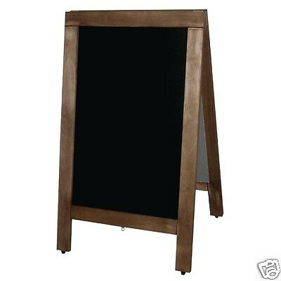 Wooden Pavement 2 Side Chalk Blackboard A Frame 50cm x 85cm Cafe Wedding Party