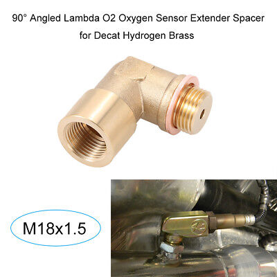 02 Bung Extension M18X1.5 O2 Oxygen Sensor Angled Extender Spacer 90 Degree Y8U0