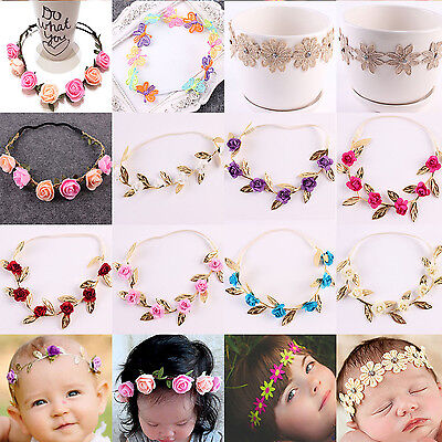 1Pc Flower Headband Hair Band Accessories for Kids Girl Newborn Baby Toddler HI