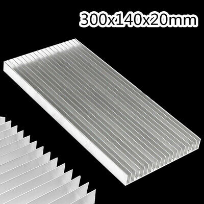 300x140x20mm Aluminum Heat Sink Cooling For LED Power IC Transistor Heatsink