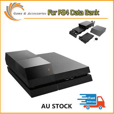 "PS4 Data Bank Playstation 4 FOR 3.5"" Hard DIsk Drive Case Gaming LED Extra AU"