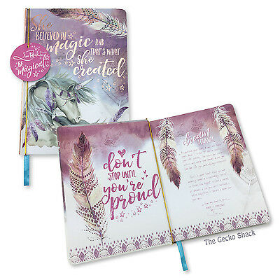 Be Magical Mystic Spirit 100 Blank Page Hard Cover Journal Notebook Lisa Pollock