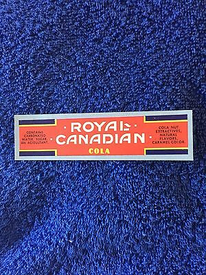 Royal Canadian Soda Label !!