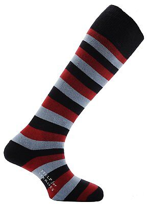 Horizon Kids Welly Boot Sock - Help for Heroes Stripe Navy/Red/Sky, Size 121/2-3