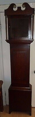 """Longcase clock case 6' 10"""" tall for 12"""" dial - case only"""