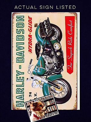 Harley Davidson Hydro Glide  Retro Reproduction Metal Advertising Sign