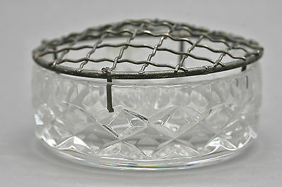 Vintage Very Heavy Hand Cut Crystal Potpourri Container Made In Austria