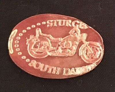 Sturgis, Sd Motorcycle Elongated/pressed Penny Souvenir