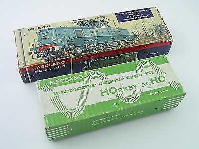 Meccano Hornby-ACHO Empty Box for 636 Type 131 Vapeur & Lid for 6392 BB 12.061