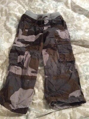 mini Boden size 4t lined camo cargo pants