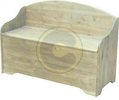 Chest Magnum in fir solid wood with shoulder rest cm 120x50x80h trunk openable