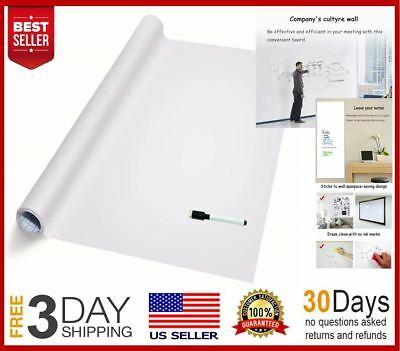 Dry Erase Wall Decal Sticker Paper Self-Adhesive Whiteboard, 1 Water Pen