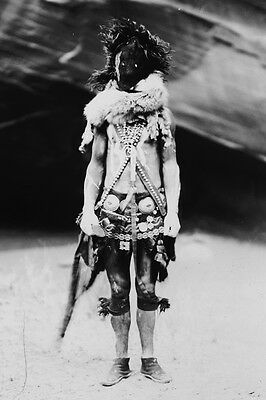 New 4x6 Native American Photo: Nayenezgani, Navaho Indian in Mask and Costume