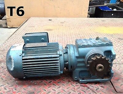 Sew-Eurodrive Type S47DT80K4 Gear Drive/Speed Reducer 3/4HP 1700RPM 3PH 32.4:1