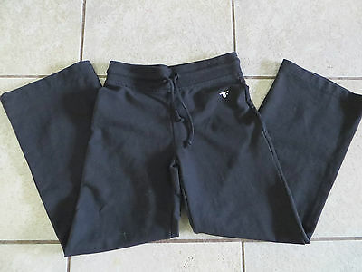 Track N Field Girls Black Track Pants - Size 8