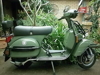 Lml Army Like Px Vespa Factory Khaki U.s. Army Touring Pack 150 2T Reliability.