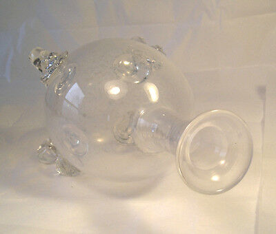 A Fine Antique Blown Glass Fotted Carafe T2