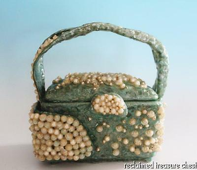 VTG OEL Graves Sculpture Purse Seashells Pearls Artist Signed Palm Springs